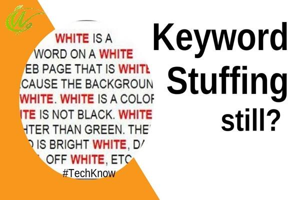 keyword stuffing از تکنیک های سئو کلاه سیاه