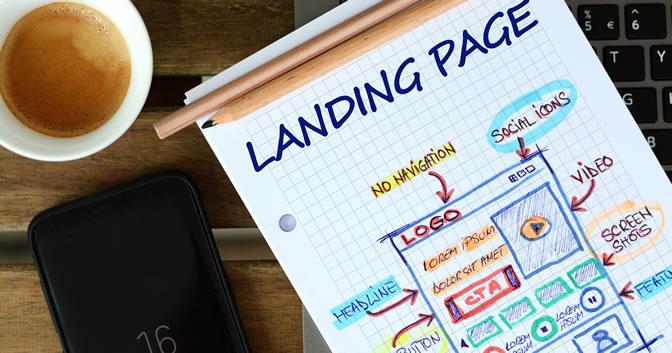 طراحی صفحات فرود وب